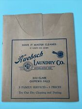 1930's Eau Claire Chippewa Falls Huebsch Laundry Co. Advertising Folder