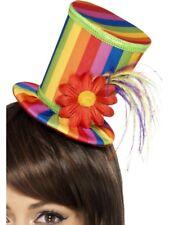 Rainbow da Donna Cappello Gay Orgoglio Arcobaleno Mini Cilindro