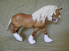 Breyer Horse Statue OOAK CM/Custom Draft Wintersong Dappled Palomino
