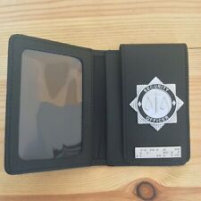 Security Officer Identity /  Warrant Card Holder Wallet with Braille Bar