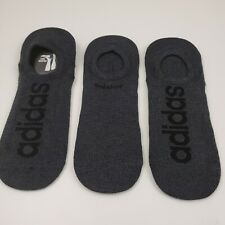 ADIDAS No Show Socks 3-Pair Gray NEW