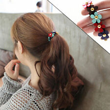 Lot 2 Korean Style Girls Flower PonyTail Elastic Hair Band Tie Rope Ring Jewelry