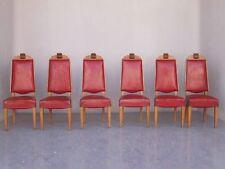 série 6 Chaises salle à manger 1940, chêne