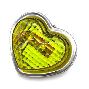 JDM Yellow Heart-Shaped Indicator Marker Lamps - 80mm 24V5W