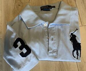RALPH LAUREN POLO Mens Light blue big pony logo Shirt Size Medium