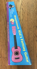 """Brand New Woodstock Kid's 23"""" Six-String Pink Fantasy Guitar With Guitar Pick"""