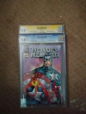 Heroes Reborn 1/2 Silver Logo. Regular Cover Signed by Rob Liefeld CGC 9.8