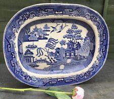 HAMPSON LONGTON 19th Century Transferware Serving Platter Plate Antique ENGLISH