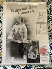 Kronenpulli BEA Farbenmix Euro CHILDREN SEW Pattern Hoodie NEW