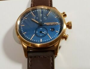 Nixon Station A11632629-00 Watch With 41mm Navy Blue Chronograph Face