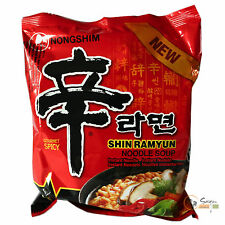 1Karton! 20x120g Nong Shim Instantnudeln Shin Ramyun scharf Instant Nudelsuppe