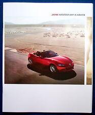 Prospekt brochure 2016 Mazda MX-5 Miata Roadster (USA)