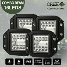 4PCS 5 inch CREE Flush Mount LED Lights 12V 24V Combo Beam Reverse Work 20000LM