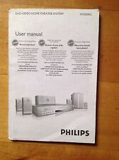 Philips User Manual for DVD Video Home Theater System model # HTS5500C