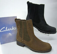 Block Pull on Clarks Ankle Women's Boots