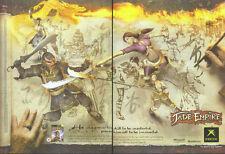Jade Empire Xbox 2005 Double Page Magazine Advert #1763