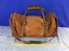 Marlboro Gear 2003 Brown Suede Leather Overnight Weekender Duffel Bag