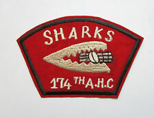 Patch -  174th Assault Helicopter Company SHARK Vietnam War Patch - 174TH AHC