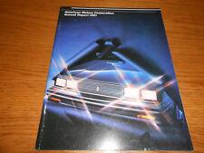 1981 AMERICAN MOTORS ANNUAL REPORT / AMC BROCHURE 1982 AMC CARS JEEP  RENAULT +