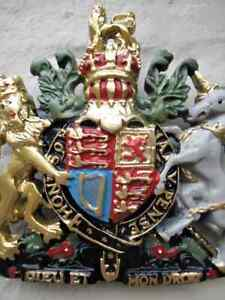 Realistic Hand Painted Coat  of Arms Heraldic Arms Royal Similarity