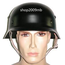 Black M35 Steel Motorcycle WWII German Helmet Army Field Helmets Collectable