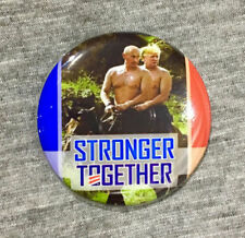 "Trump Putin Riding Horse Russian Collusion Pin Pinback 1.5"" Stronger Together"