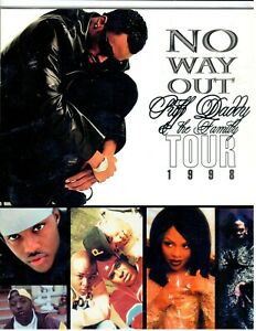 Puff Daddy & The Family 1998 No Way Out Tour Program Lil' Kim Mase Sean Combs