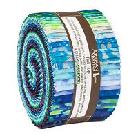 Kaufman Batik Fabric Strips Jelly Roll Rollup, Lunn Studios AVIVA, RU-898-40