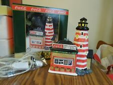 1995 porcelain Coca Cola The Lighthouse Point Snack Bar lighted #56218