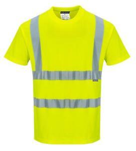 Portwest S170 Baumwoll Komfort Warnschutz T-Shirt Gelb Lagerabverkauf gr. L
