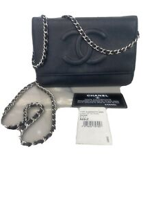 Chanel Authentic Wallet on a Chain WOC black classic