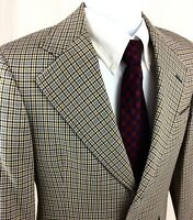 Hart Schaffner Marx 70's Men's 38 XS Vintage Plaid Blazer Sport Coat/Jacket