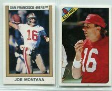 1989 Panini Stickers #157 & 1990 Panini Stickers #196 Joe Montana AP