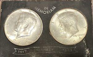 Two 1964 Kenedy Silver Half Dollars