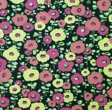 "100% Cotton Denim Canvas Twill Fabric 44"" Wide Bty Beautiful Poppy Floral"