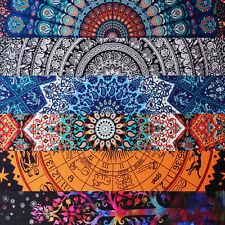 Large Antique Indian Mandala Printed Tapestry Boho Wall Hanging Beach Blanket