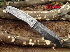 """8"""" long Hand engraved steel scale folding Knife, custom made 3.5"""" Hand Forged"""