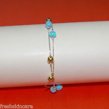 OPAL & GOLD FILLED Beads Sterling Silver 925 Chain BRACELET Made to your size