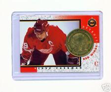1997-98 PINNACLE MINT STEVE YZERMAN BRASS COIN & CARD