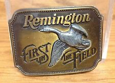 VINTAGE 1980  Remington Arms Company CANADA GOOSE Belt Buckle First in the Field