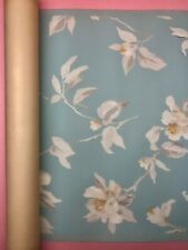 VINTAGE 1940's - SEARS & ROEBUCK - COLOR PERFECT FLORAL WALLPAPER ROLL - NOS