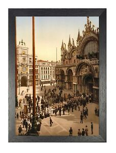 Procession At St Marks Venice Italy Poster Art Renaissance Print Photo Painting