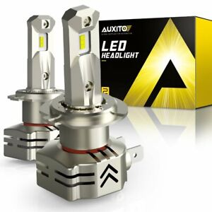 2X AUXITO H7 LED Headlight Bulbs High Low Beam 24000LM Super Bright White 10S EA