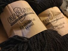 2 SKEINS Cascade Yarns Ecological Wool Peruvian Chocolate Twist Undyed 478 Yd EA