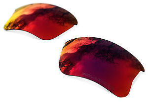 Polarized Red Replacement Lenses for Oakley Flak 2XL