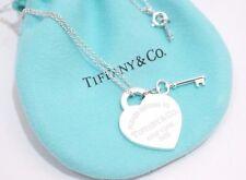 "Tiffany & Co.Sterling Silver Return To Tiffany Heart Key Necklace 16"""