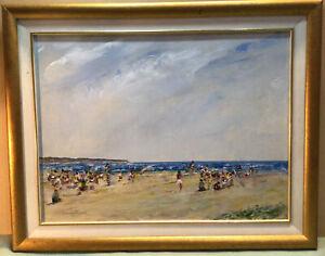 Donald Fraser  Beach Scene Framed Painting