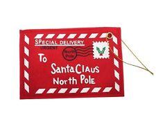 Letter to Santa Red Felt Envelope Christmas North Pole Hanging Decoration