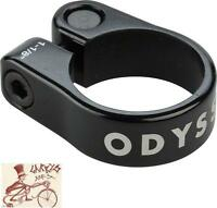 "ODYSSEY SLIM CLAMP 28.6MM--1-1/8"" BLACK BICYCLE SEAT CLAMP"