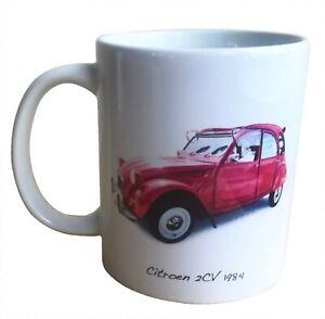 Citroen 2CV 1984 - 11oz Ceramic Mug - Present for the French Car Enthusiast